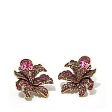 "Heidi Daus ""Wild Orchid"" Crystal Earrings"