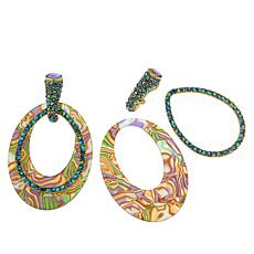 "Heidi Daus ""XL Hoops"" Crystal-Encrusted Convertible Earrings"