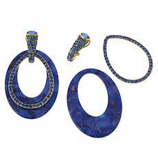 """Heidi Daus """"XL Hoops"""" Crystal-Encrusted Convertible Earrings"""