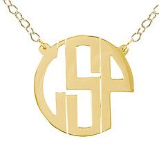 Heights Jewelers Personalized Monogram Circle Necklace - Plated
