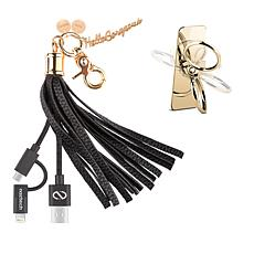 Hello Gorgeous 2-in-1 USB Tassel Keychain & Ring Stand