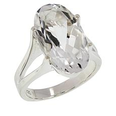 "Herkimer Mines 8.4ct Oval Herkimer ""Diamond"" Quartz Solitaire Ring"
