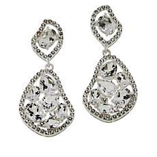 "Herkimer Mines ""Diamond"" Quartz & Topaz ""Star Power"" Drop Earrings"