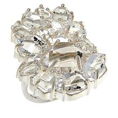 "Herkimer Mines ""Diamond"" Quartz Multi-Stone Cluster Ring"
