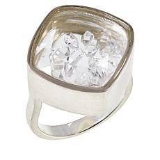"Herkimer Mines ""Diamond"" Quartz Shaker Ring"