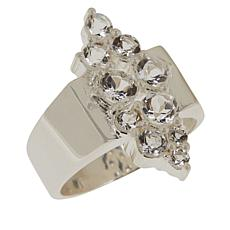"Herkimer Mines Sterling Silver ""Diamond"" Quartz Cluster Ring"
