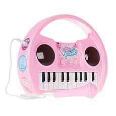 Hey! Play! Kids Karaoke Machine w Microphone, Musical Board & Lights