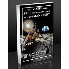Highland Mint Apollo Moon Landing Quote 3-D Acrylic BlocKart