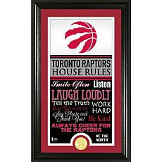 "Highland Mint ""House Rules"" Bronze Coin Photo Mint - Toronto Raptors"