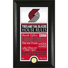 "Highland Mint ""House Rules"" Coin Photo Mint - Portland Trail Blazers"