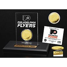 Highland Mint Philadelphia Flyers Gold Coin Etched Acrylic