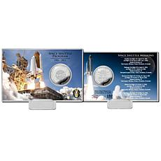 Highland Mint Space Shuttle Program Day Silver Coin Card
