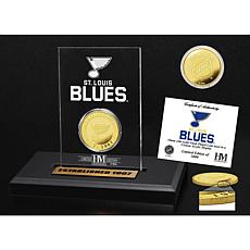 Highland Mint St. Louis Blues Gold Coin Etched Acrylic