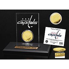 Highland Mint Washington Capitals Gold Coin Etched Acrylic