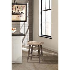 Hillsdale Furniture Saddle Backless Counter Stool - Rustic Gray