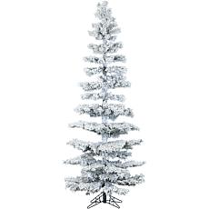 Hillside Slim 7-1/2' Flocked Pine Christmas Tree