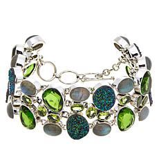 Himalayan Gems™ Green Drusy and Multigemstone Bracelet