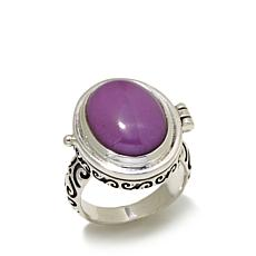 "Himalayan Gems™ Phosphosiderite ""Secret Locket"" Ring"
