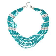 """Himalayan Gems™ Turquoise Waterfall Beaded 26"""" Necklace"""