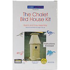 Hobby Express Chalet Wood Bird House Kit - Unfinished