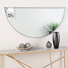 "Holly & Martin Decorative 48"" Demilune Mirror - Chrome"