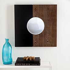 Holly and Martin Wagars Square Wall Mirror - Black with Burnt Oak