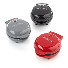 Holstein Set of 3 Nonstick Mini Waffle Makers