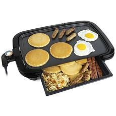 HomeCraft HCGDWD160BK Non-Stick Griddle With Warming Drawer