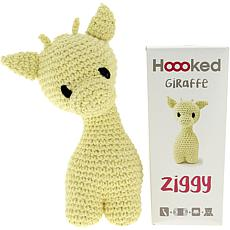 Hoooked Ziggy Giraffe Kit with Eco Barbante Yarn - Popcorn