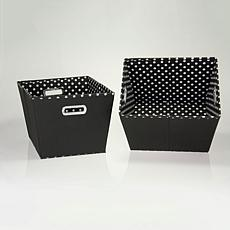Household Essentials 2 Medium Bins KD Black