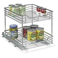 Household Essentials Two-Tier Sliding Cabinet Organizer