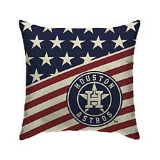 """Houston Astros 18""""X18"""" Duck Cloth  Décor Pillow"""
