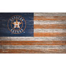 Houston Astros Distressed Flag 11x19