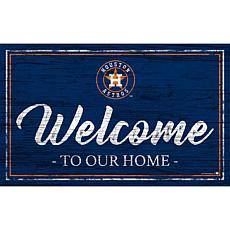 """Houston Astros Team Color Welcome Sign - 11x19"""""""