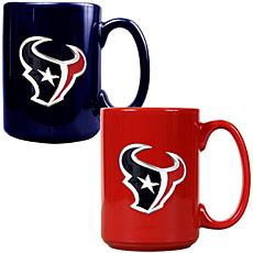 Houston Texans 2pc Coffee Mug Set