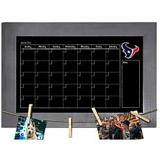 Houston Texans Monthly Chalkboard with frame & clothespins 11x19 Sign