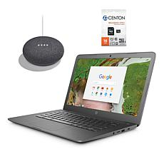 "HP 14"" Intel Chromebook plus Google Home Mini and Tech Support"