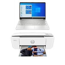 "HP 15.6"" Langkawi 4GB RAM 256GB SSD Laptop w/Voucher & HP AIO Printer"