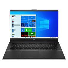 """HP 17.3"""" AMD Athlon 8GB RAM 256GB SSD 1TB HDD Black Laptop"""