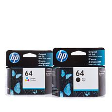 HP 64 Black and Color Ink Cartridges Combo Pack