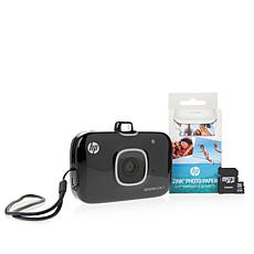 HP Sprocket 2-in-1 Mobile Photo Printer & Camera Bundle w/8GB SD Card