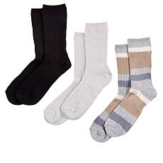 Hue 3-pack Ribbed Stripe Boot Socks