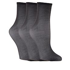 Hue 3-pack Sheer Anklet Stocking