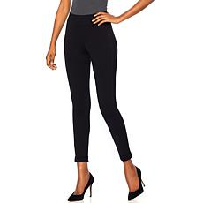 HUE High-Waist Cuffed Ponte Leggings