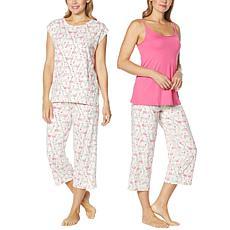HUE Next to Nothing 3-piece Sleepwear Set
