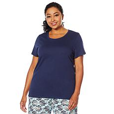 HUE Short-Sleeve V-Neck Sleep Tee - Plus