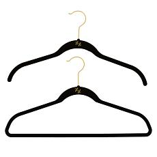 Huggable Hangers with Odor Eliminators Brass 74-piece Set
