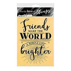 Hunkydory Crafts For the Love of Stamps - Friends So Bright A6 Set