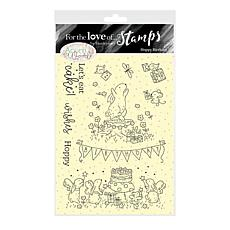 Hunkydory Crafts For the Love of Stamps - Hoppy Birthday A6 Stamp Set