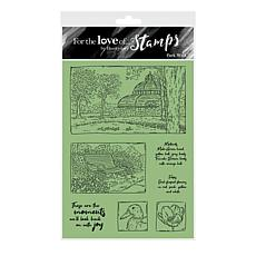 Hunkydory Crafts For the Love of Stamps - Park Walk A6 Stamp Set